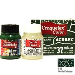 Kit Craquelex Color Acrilex 37mL - 546 Verde Pinheiro