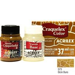 Kit Craquelex Color Acrilex 37mL - 573 Ocre Ouro