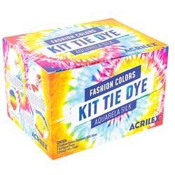 Kit Tie Dye Aquarela Silk Acrilex Fashion Colors 7 Peças