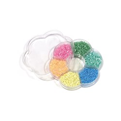 Kit Vidrilhos Candy Colors - Caixa Flor com 70g