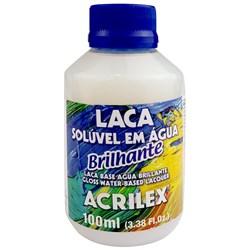 Laca Brilhante Acrilex 100mL - Solúvel em Água