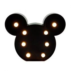 Luminária com Led 21x17cm LL12 Mouse Preto