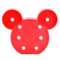 Luminária com Led 21x17cm LL13 Mouse Vermelho