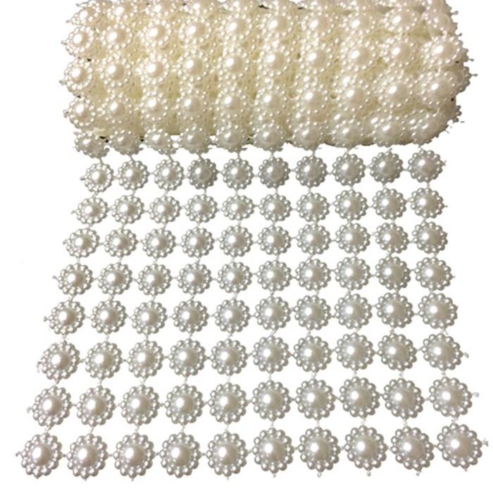 Manta Decorativa Flor de Pérola P 10x50cm MDP001