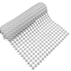 Manta Decorativa Meia Pérola Branca 5mm 11,5x50cm MDP008