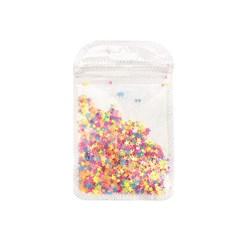 Mini Paetê Estrela Cheia Fluor - pacote com 2 gramas