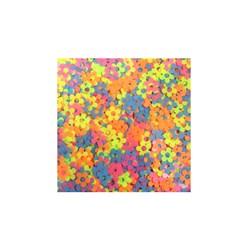 Mini Paetê Flor Vazada Color Fluor - pacote com 2 gramas
