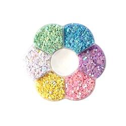 Mini Paetê Kit Candy Colors - Coração - Caixa com 30g