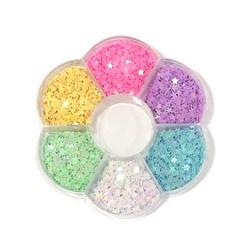 Mini Paetê Kit Candy Colors - Estrela - Caixa com 30g