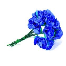 Mini Rosa de Papel Azul Marinho RSP-015 Embalagem com 12 unidades