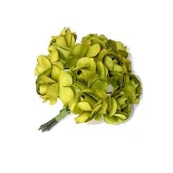 Mini Rosa de Papel Verde Abacate RSP-002 Embalagem com 12 unidades