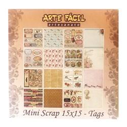 *Mini Scrap com 24 Folhas Sortidas MS004 Tags