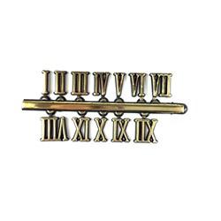 Número Romano para Relógio 9mm Dourado