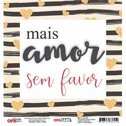 OPACARD Folha para Scrap Dupla Face - 15x15cm 2747 Amor 3