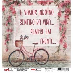 OPACARD Folha para Scrap Dupla Face - 15x15cm 2751 Bicicleta 1