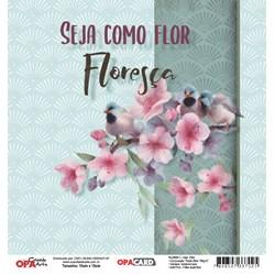 OPACARD Folha para Scrap Dupla Face - 15x15cm 2754 Flores 1