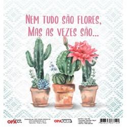OPACARD Folha para Scrap Dupla Face - 15x15cm 2764 Cactos 2