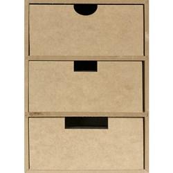 Organizador 3 Gavetas em Pé 10x16x26cm MDF-101