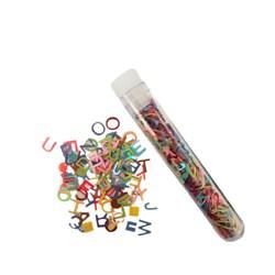 Paetê Letras Alfabeto 5mm - Tubete com 1,8 Gramas