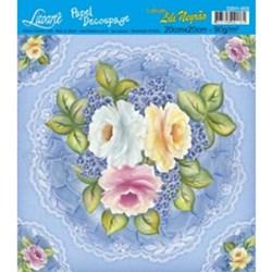 Papel Decoupage Quadrado Litoarte D201-003 Flor