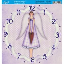Papel Decoupage Relógio com Recorte DR21-014 Tilda I