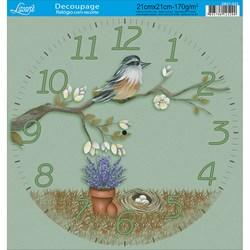 Papel Decoupage Relógio com Recorte DR21-023 Folk Primitivo