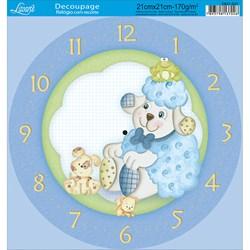 Papel Decoupage Relógio com Recorte DR21-037 Ovelha