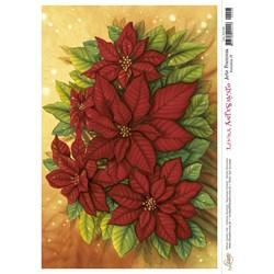 Papel para Arte Francesa AFN-008 Poinsétia IV