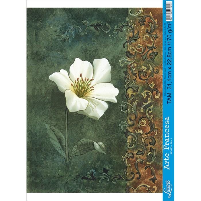 Papel para Arte Francesa Litoarte AF-023 Flor