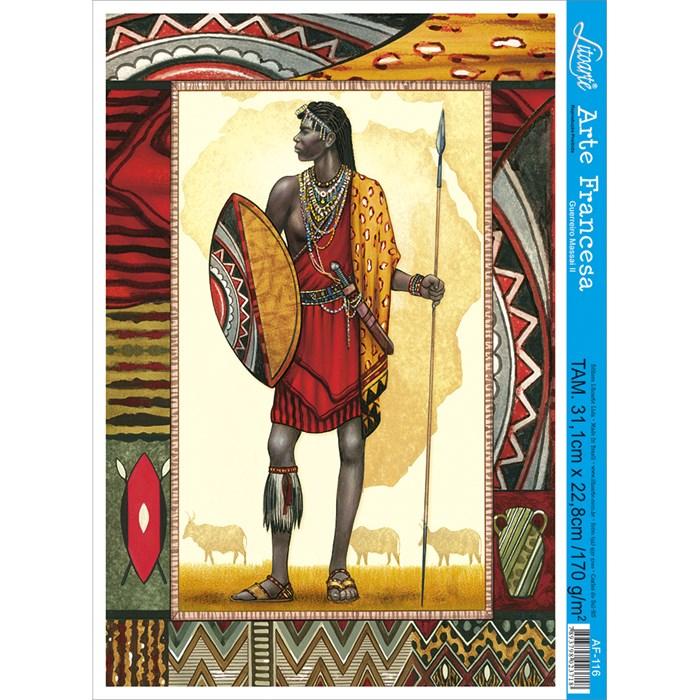 Papel para Arte Francesa Litoarte AF-116 Guerreiro Massai 2