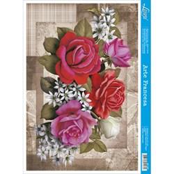 Papel para Arte Francesa Litoarte AF-167 Buque de Rosas
