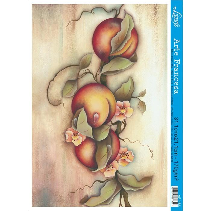 Papel para Arte Francesa Litoarte AF-186 Frutas