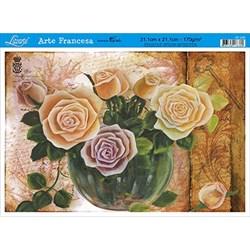 Papel para Arte Francesa Litoarte AF-249 Rosas