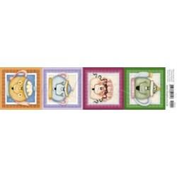 Papel para Arte Francesa Litoarte AFE-011 Jogo de Chá