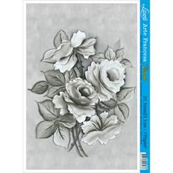 Papel para Arte Francesa Litoarte Lili Negrão AF1-005 Rosas PB