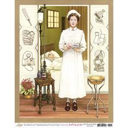 Papel para Arte Francesa Média Litoarte AFM-015 Enfermeira I
