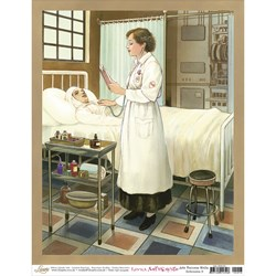 Papel para Arte Francesa Média Litoarte AFM-016 Enfermeira II