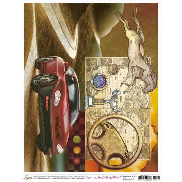 Papel para Arte Francesa Média Litoarte AFM-017 Automóvel l