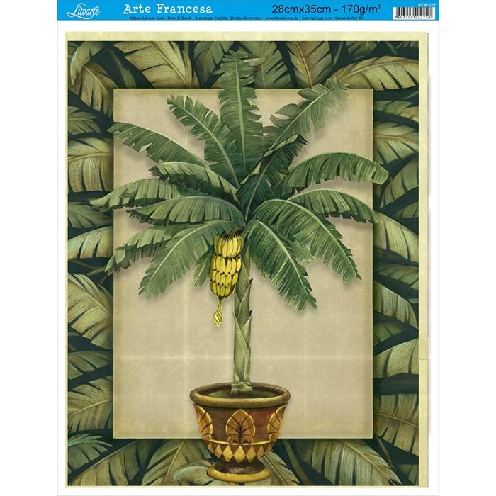 Papel para Arte Francesa Média Litoarte AFM-028 Bananeira I