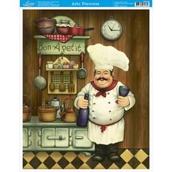 Papel para Arte Francesa Média Litoarte AFM-036 Gourmet I