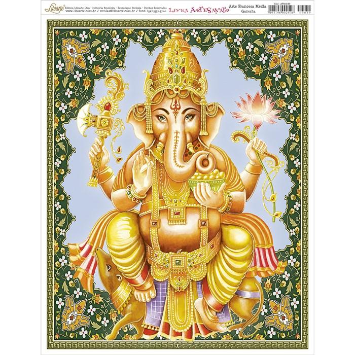 Papel para Arte Francesa Média Litoarte AFM-039 Ganesha