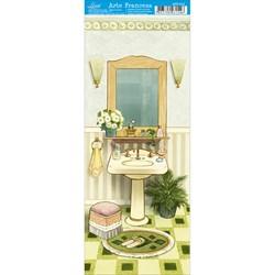 Papel para Arte Francesa Pequena Litoarte AFP-012 Banheiro