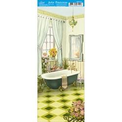 Papel para Arte Francesa Pequena Litoarte AFP-013 Banheiro
