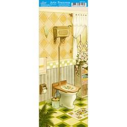 Papel para Arte Francesa Pequena Litoarte AFP-014 Banheiro IIII