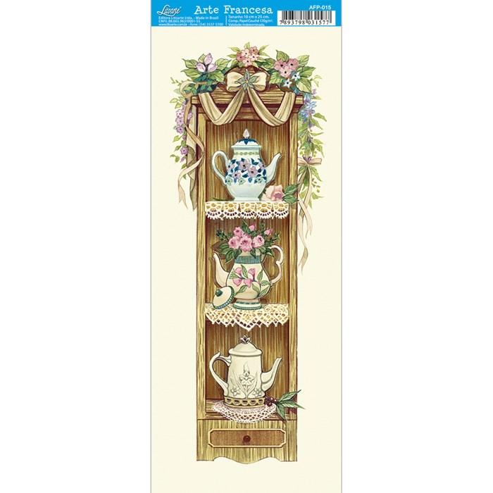 Papel para Arte Francesa Pequena Litoarte AFP-015 Jogo de Chá