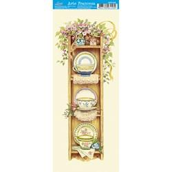 Papel para Arte Francesa Pequena Litoarte AFP-016 Jogo de Chá
