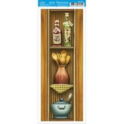 Papel para Arte Francesa Pequena Litoarte AFP-061 Cozinha