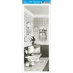 Papel para Arte Francesa Pequena Litoarte AFP-062 Banheiro PB