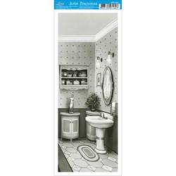 Papel para Arte Francesa Pequena Litoarte AFP-064 Banheiro PB