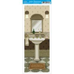Papel para Arte Francesa Pequena Litoarte AFP-081 Banheiro II